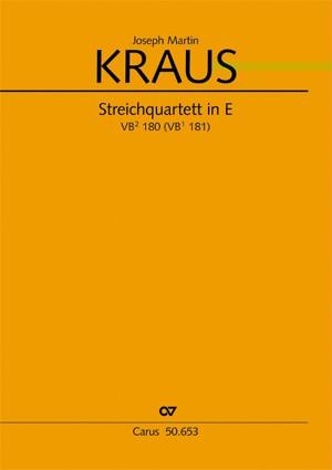 Kraus: Streichquartett in E (VB 180; E-Dur)