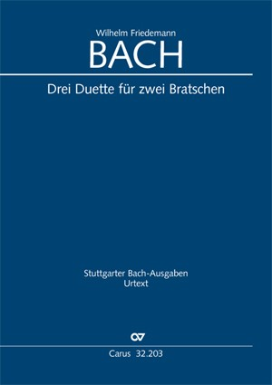 Bach WF: 3 Duets (2 Player's Scores)