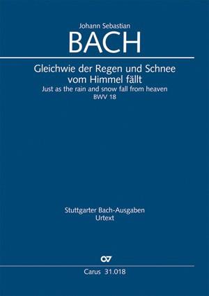 Bach, JS: Gleichwie der Regen und Schnee
