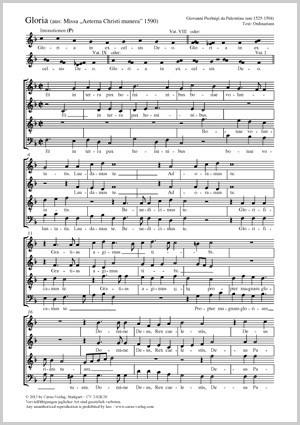 Palestrina, Giovanni Pierluigi da: Gloria