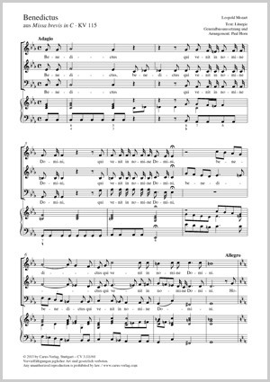 Mozart, Leopold: Benedictus