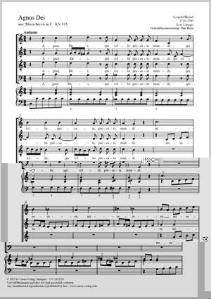 Mozart, Leopold: Agnus Dei