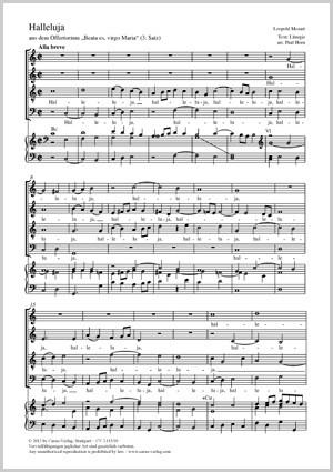 Mozart, Leopold: Halleluja