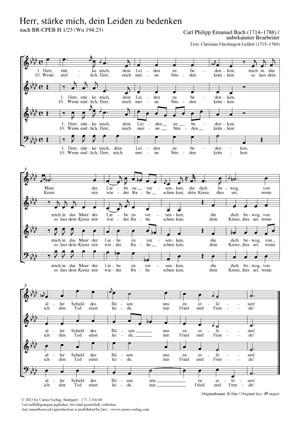 Bach, CPE: Herr, stärke mich, dein Leiden zu bedenken BR-CPEB H 1/23 (Wq 194,23)
