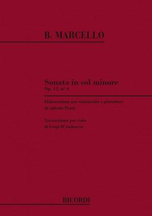 Marcello: Sonata Op.11, No.4 in G minor