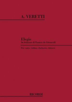 Veretti: Elegie in Friulano