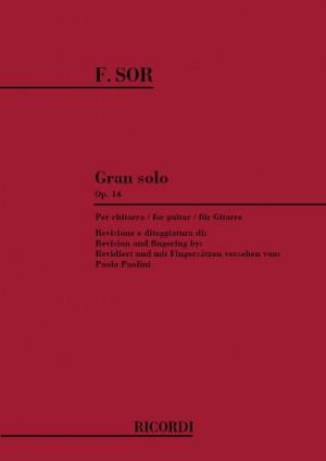 Sor: Grand Solo Op.14 (ed. P.Paolini)