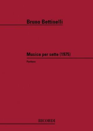 Bettinelli: Musica per Sette