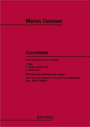 Marius Constant: Concertante pour saxophone alto et orchestre