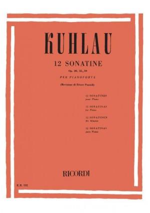Kuhlau: 12 Sonatinas Op.20, Op.55 & Op.59 (ed. E.Pozzoli)