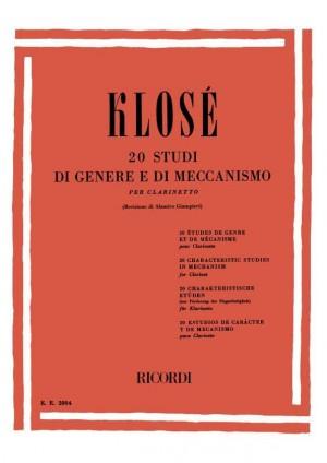 Klosé: 20 Studi di Genere e di Meccanismo