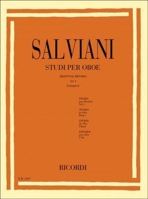 C. Salviani: Studi per oboe (tratti dal Metodo) Vol. I