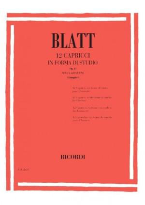 Blatt: 12 Capricci in Forma di Studio Op.17