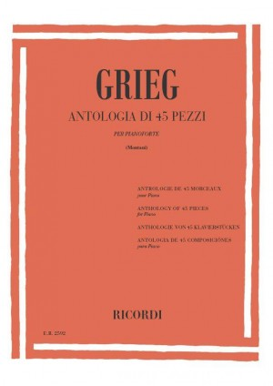 Grieg: Antologia di 45 Pezzi
