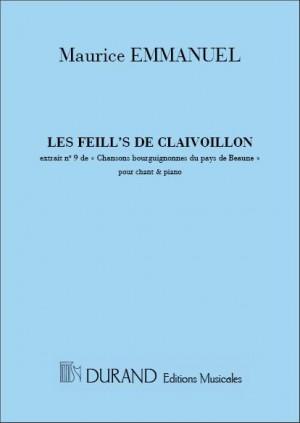 Maurice Emmanuel: Les Filles-Clavoillon