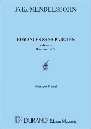 Mendelssohn: Oeuvres complètes Vol.1, No.1: Romances No.1 - No.10