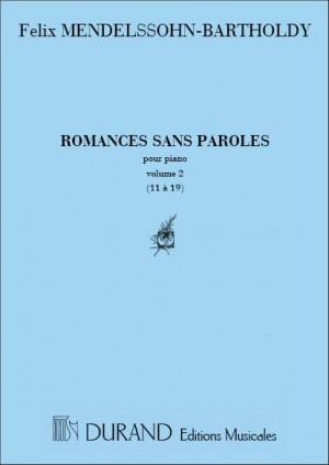 Mendelssohn: Oeuvres complètes Vol.1, No.2: Romances No.11 - No.19