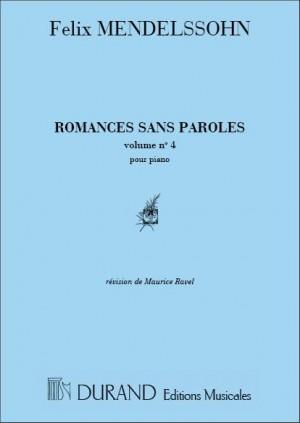 Mendelssohn: Oeuvres complètes Vol.1, No.4: Romances No.29 - No.38