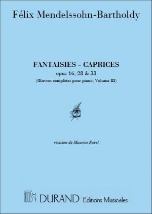 Felix Mendelssohn Bartholdy: Oeuvres Completes, Volume III