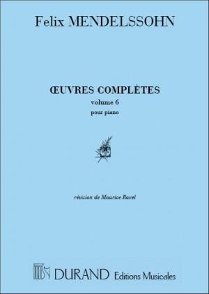 Mendelssohn: Oeuvres complètes Vol.6