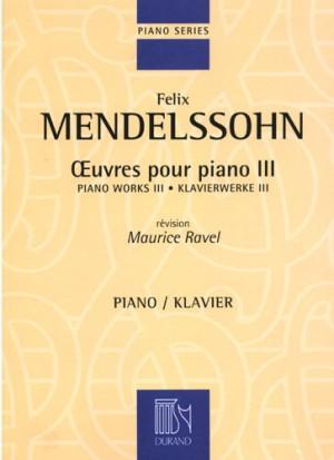 Mendelssohn: Oeuvres complètes Vol.3
