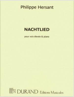 Philippe Hersant: Nachtlied, Sur Un Poeme De Georg Trakl