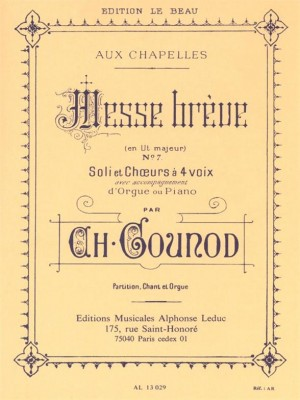 Charles Gounod: Messe Breve No. 7 for SATB and Organ