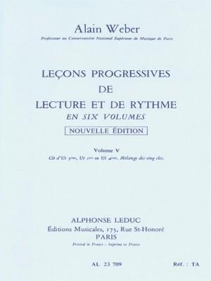 Alain Weber: Progressive Lessons Of Reading And Rhythm - vol. 5