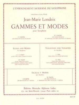 Jean-Marie Londeix: Gammes et Modes Vol.1