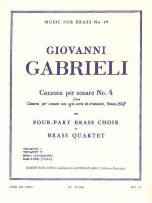 Andrea Gabrieli: Canzona Per Sonare N04
