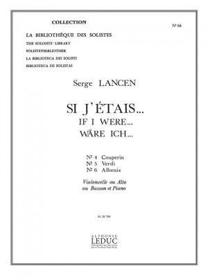 Serge Lancen: If I were... for Cello, Viola or Bassoon and Piano