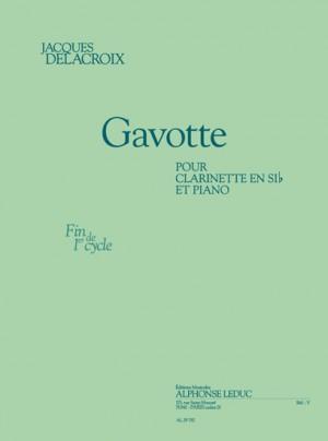 Delacroix: Gavotte pour clarinette si b et piano