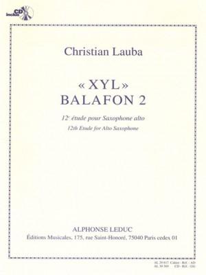 Christian Lauba: XYL Balafon 2, 12th Study for Alto Saxophone
