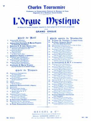 Charles Tournemire: L'Orgue Mystique Vol.7