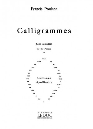 Francis Poulenc: Calligrammes, 7 Mélodies