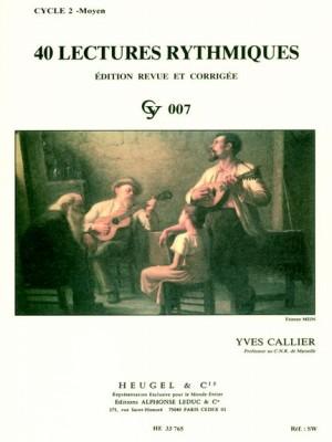 Yves Callier: 40 Rhythmic Exercises