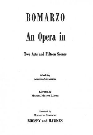 Ginastera, A: Bomarzo op. 34