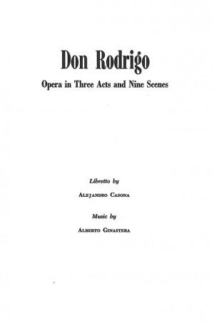 Ginastera, A: Don Rodrigo op. 31