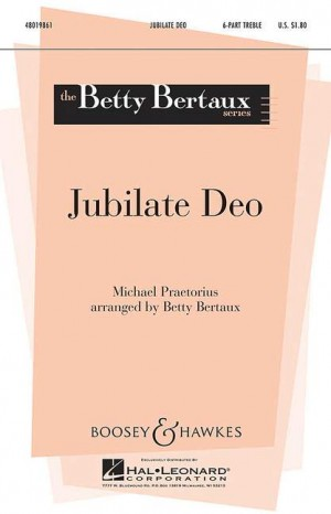 Praetorius, M: Jubilate Deo
