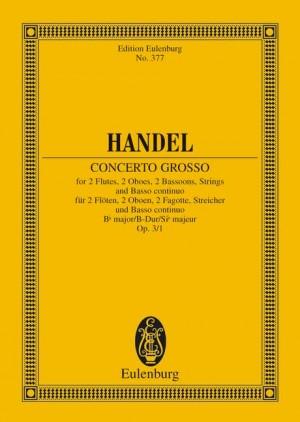 Handel, G F: Concerto grosso Bb major op. 3/1 HWV 312