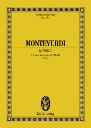 Monteverdi, C: Messa Nr. III in g M xvi, 1