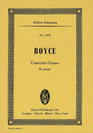 Boyce, W: Concerto grosso B minor Product Image
