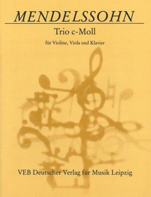Mendelssohn: Piano Trio in C minor MWV Q 3 Product Image