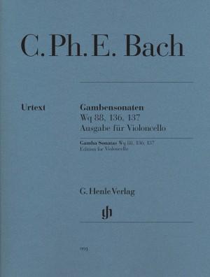 Bach, C P E: Gamba Sonatas WQ 88, 136, 137