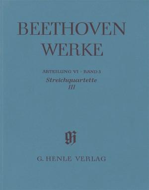 Ludwig van Beethoven: Streichquartette III