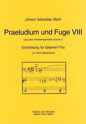 Bach, J S: Prelude and Fugue VIII BWV 853