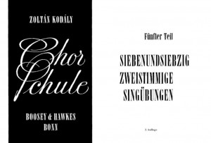 Kodaly, Z: Chorschule Band 5