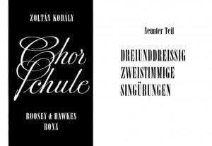 Kodaly, Z: Chorschule Band 9