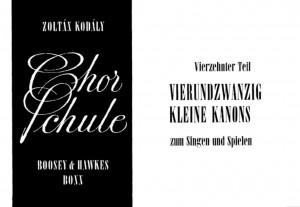 Kodaly, Z: Chorschule Band 14