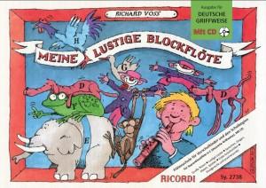 Richard Voss: Meine lustige Blockflöte Band 1 & CD (deutsche G.)